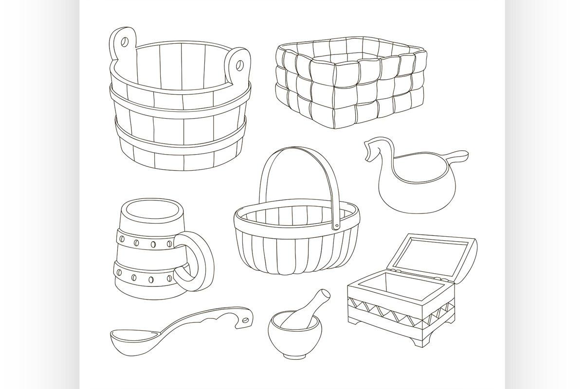 Rustic wooden utensils example image 1
