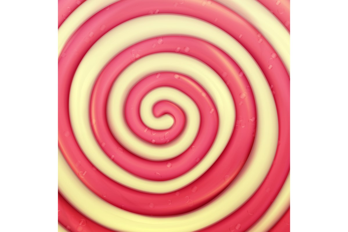 Classic Lollipop Vector Background. Round Red example image 1