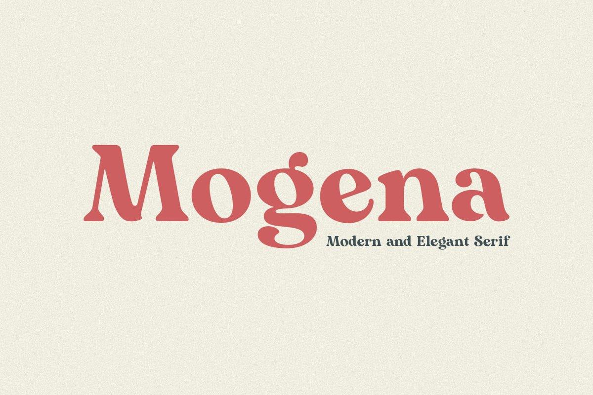 Mogena - Modern Serif Font example image 1