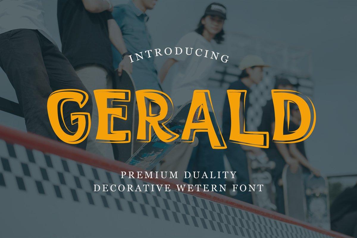 Gerald - Display Font example image 1