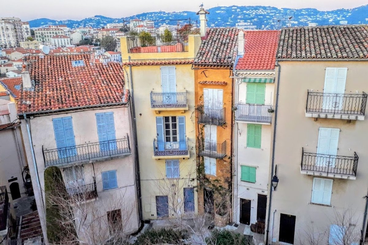 Architecture Photography Narrow houses in Old town Cannes example image 1