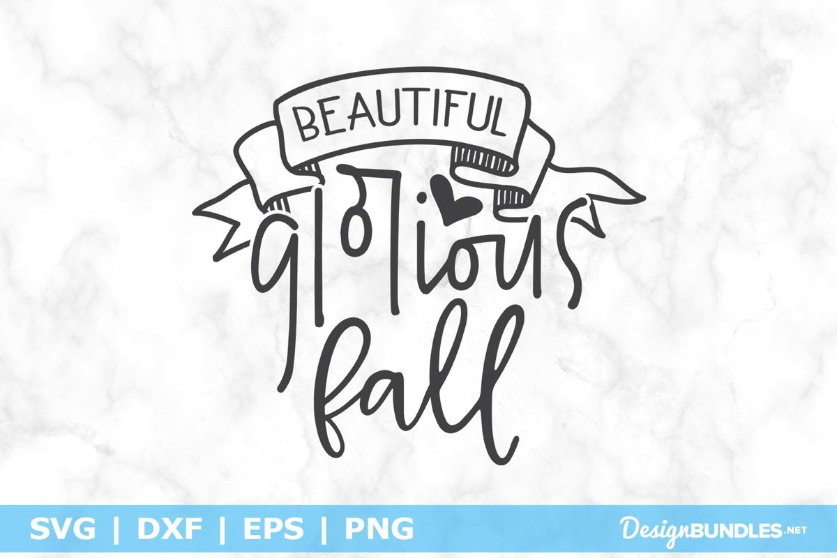 Beautiful Glorious Fall SVG File example image 1