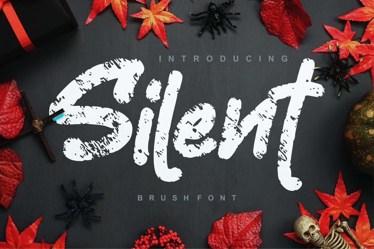 Silent   Decorative Brush Font example image 1