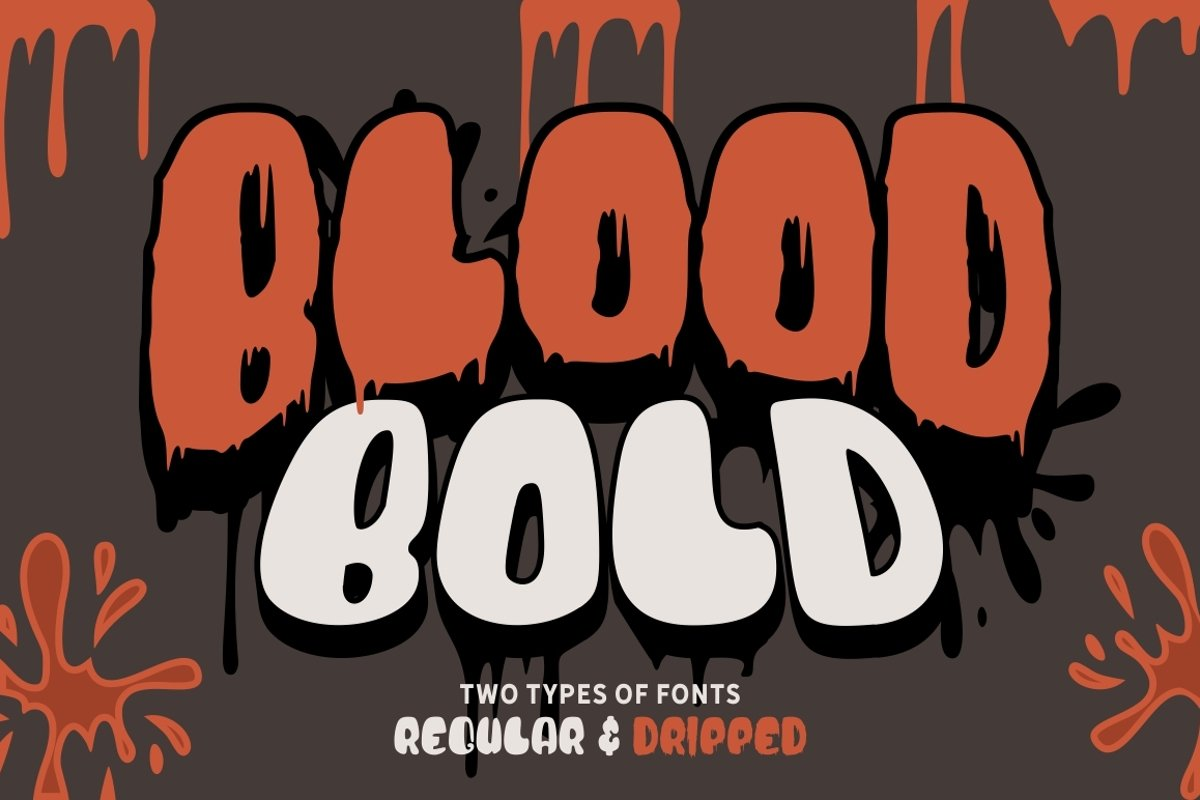 Blood Bold - Fun Halloween Two Fonts example image 1