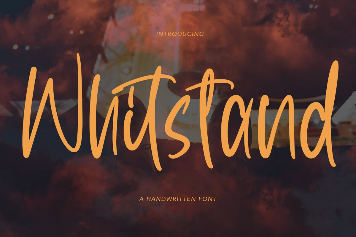 Whitstand - Handwritten Font example image 1