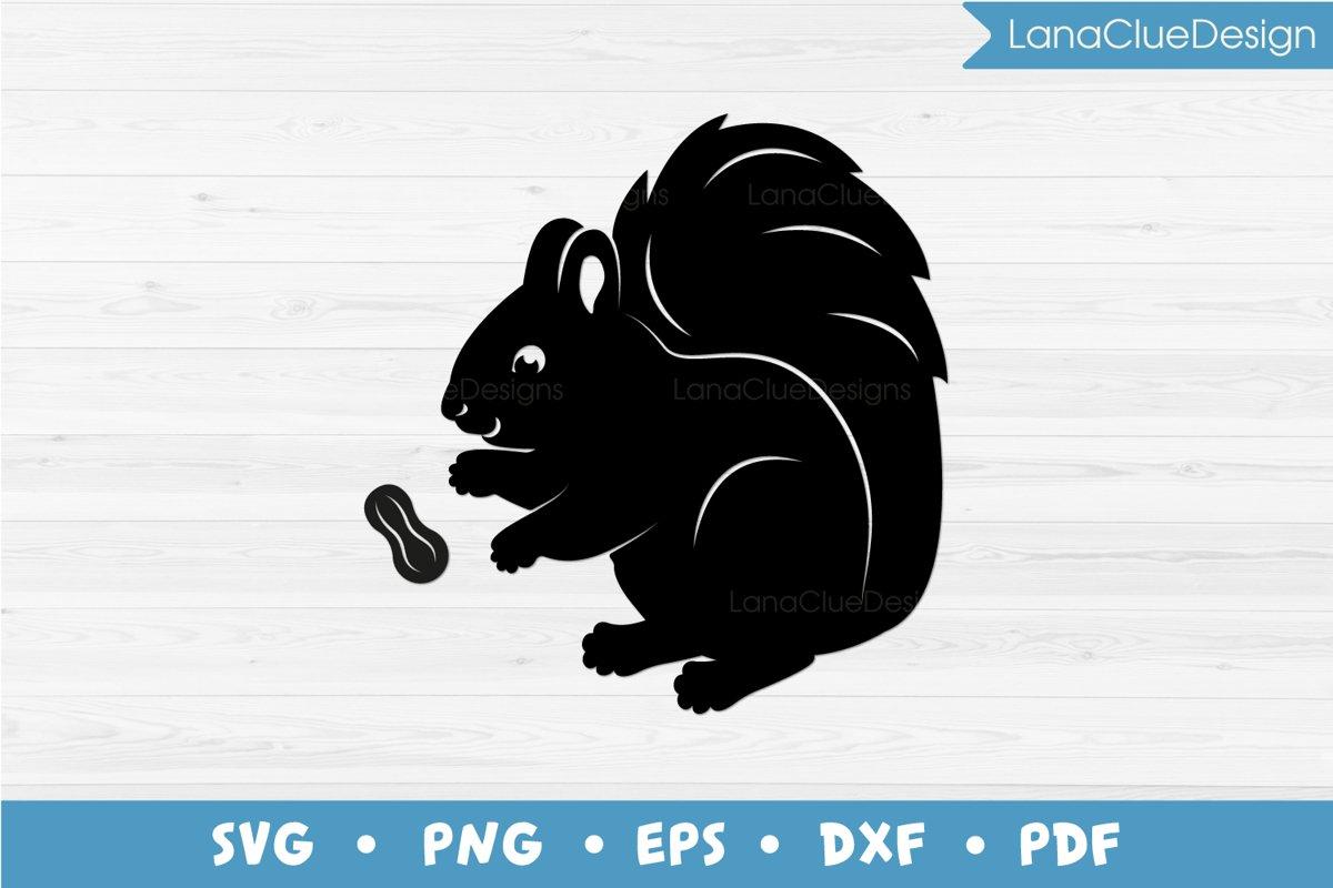 Squirrel and Peanut SVG example image 1