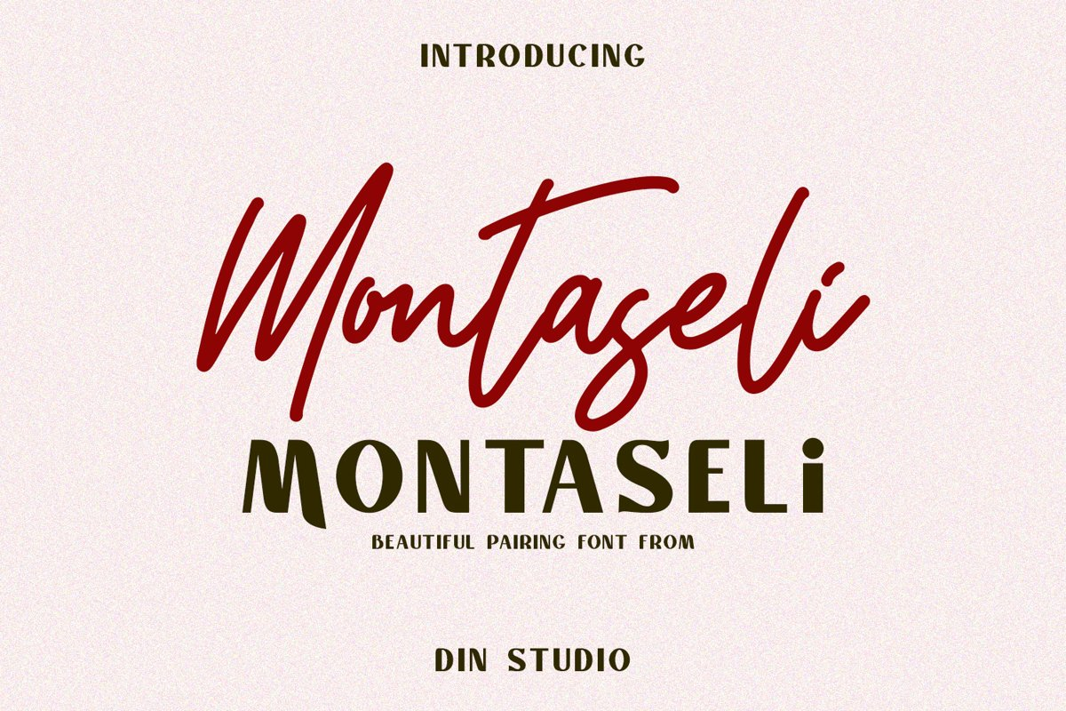 Montaseli Font Duo example image 1