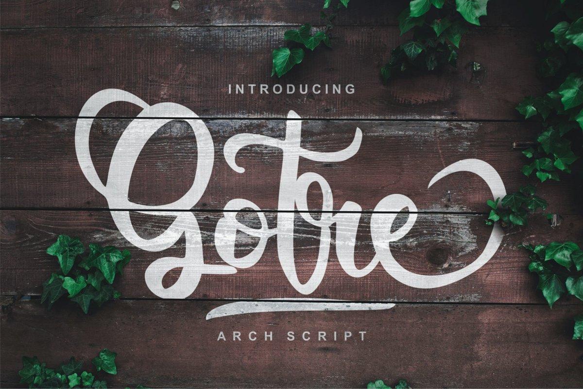 Gotre | Script Font example image 1