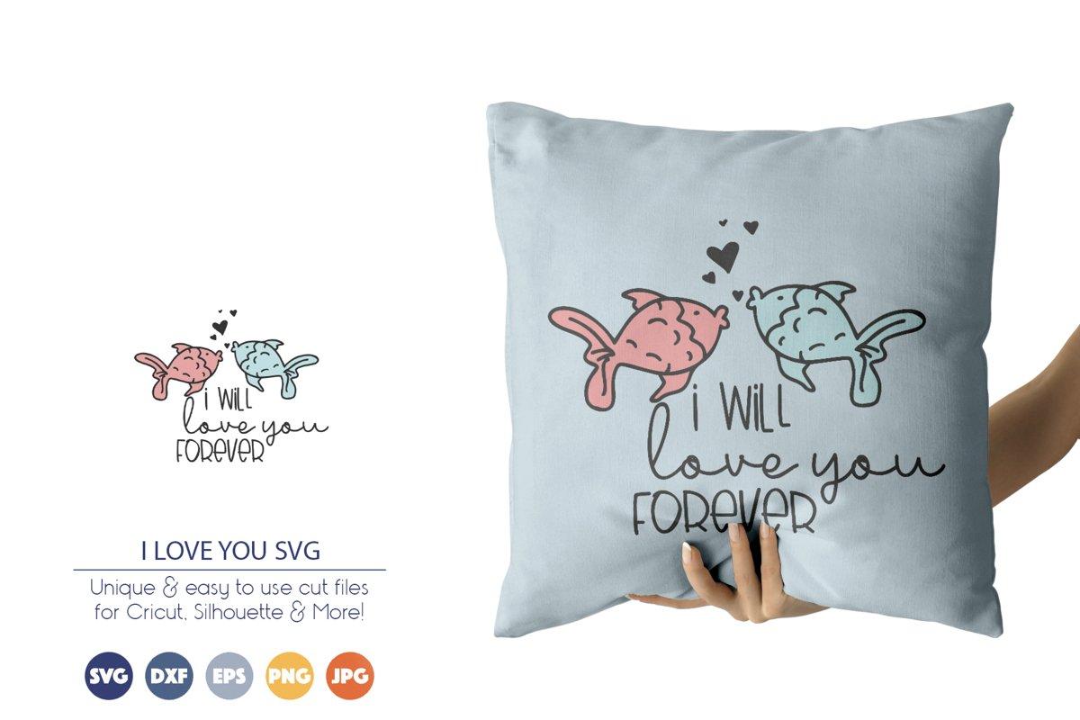 Fish svg idea for Valentine's craft from Deisgn Bundles