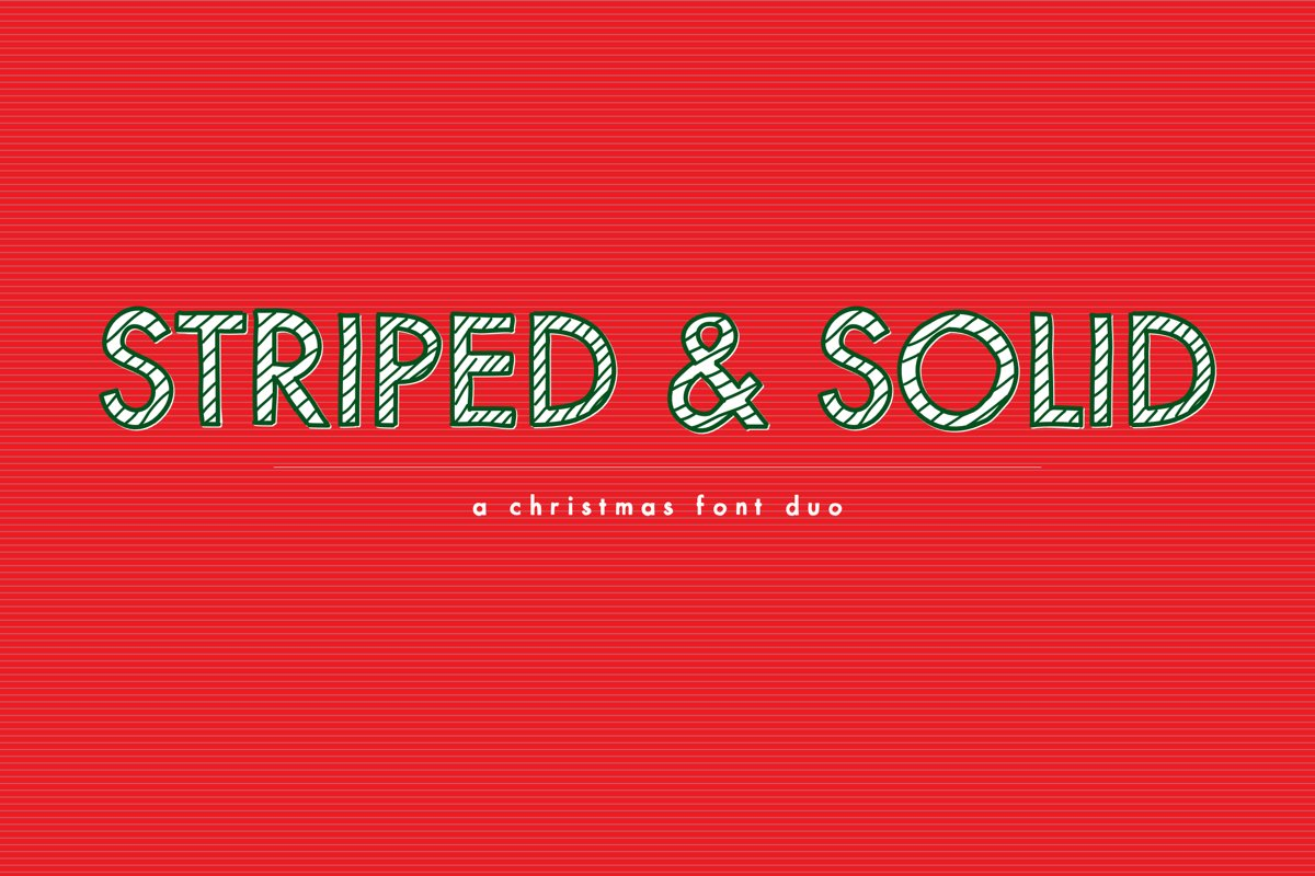 Striped & Solid - A Christmas Font Duo example image 1