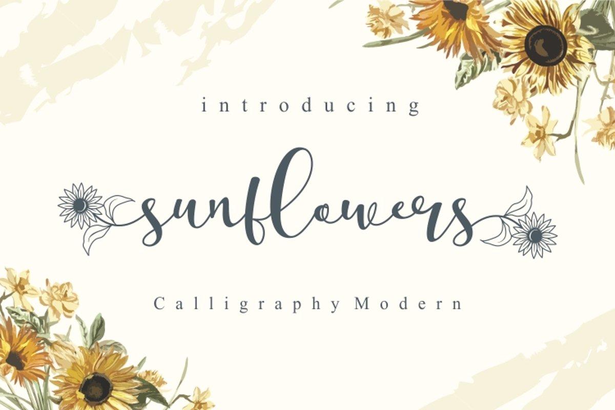 Sunflowers example image 1