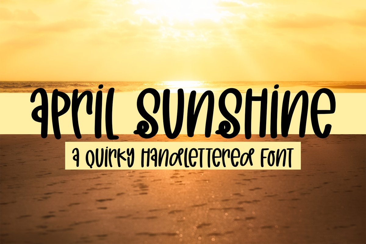 April Sunshine - A Quirky Handlettered Font example image 1