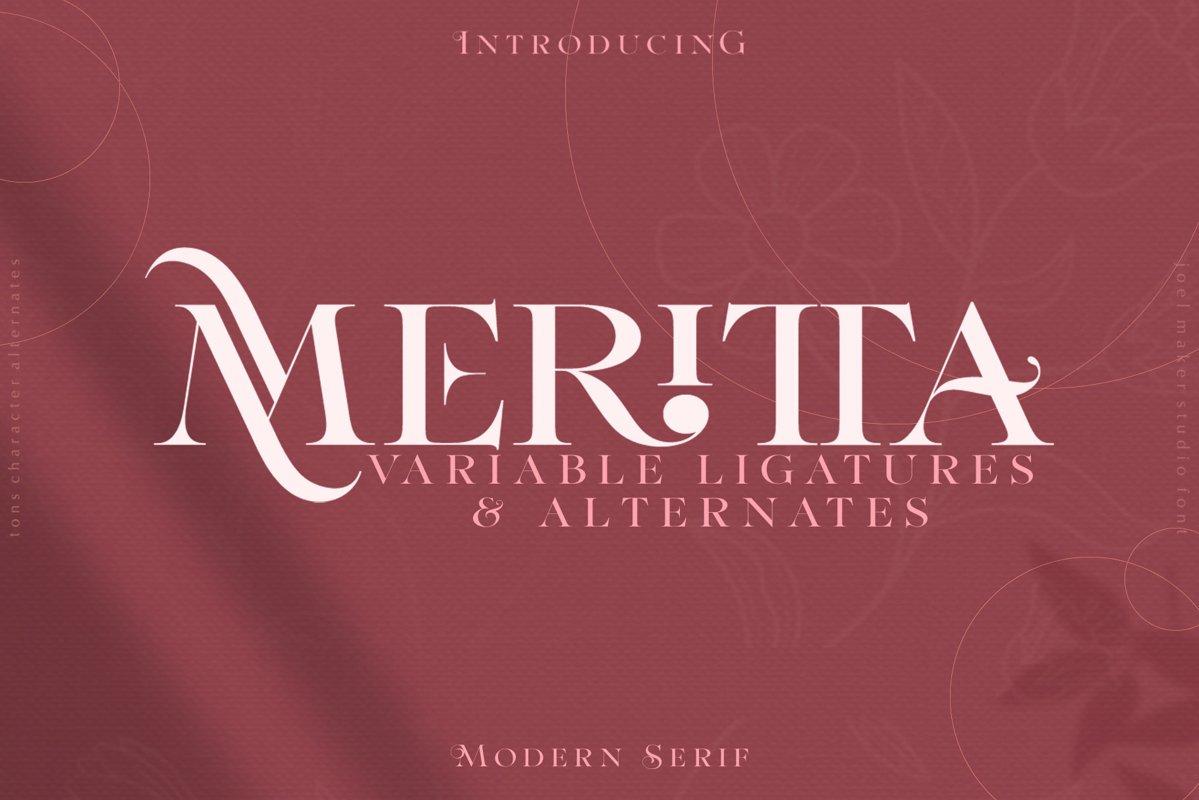 Meritta Serif example image 1