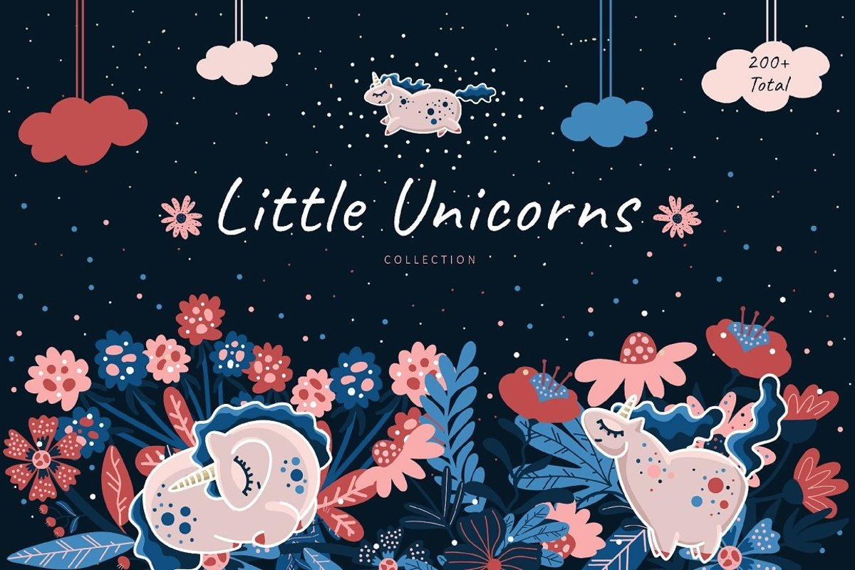 LITTLE UNICORNS COLLECTION kid's cute pack example image 1