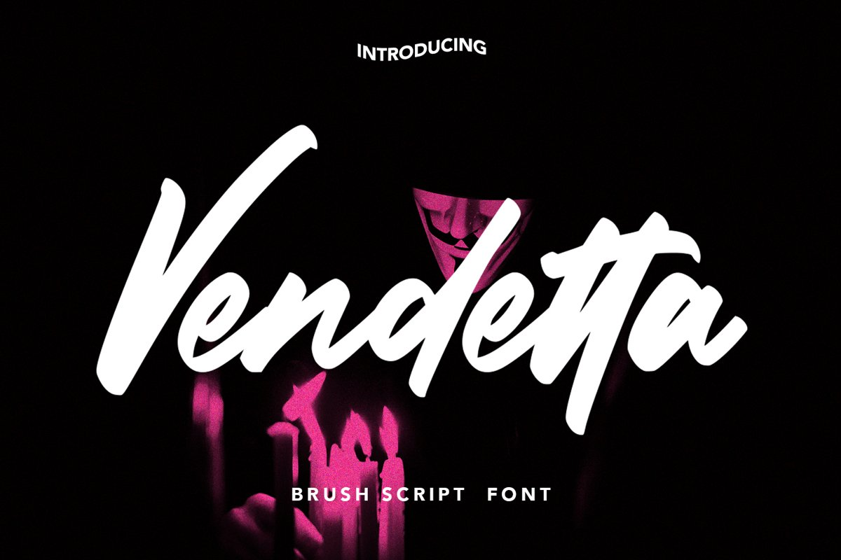 Vendetta - Brush Script Font example image 1