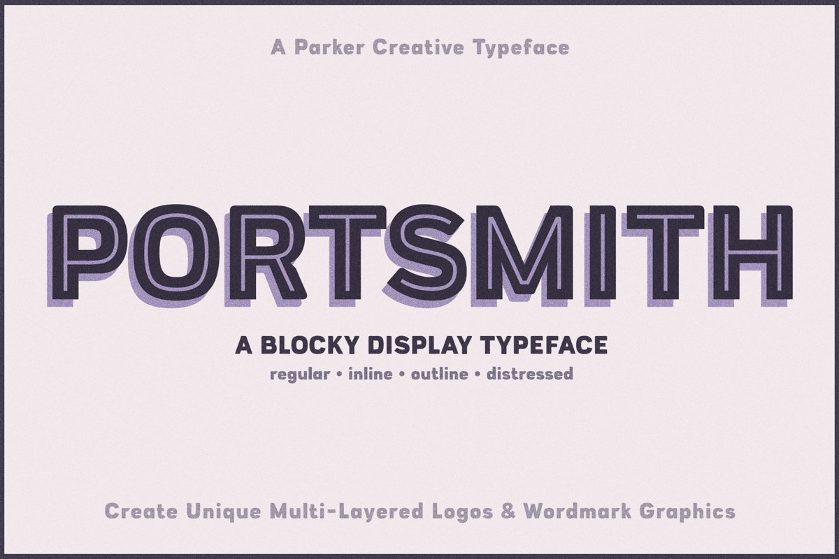 Portsmith - A Multi-Layer Typeface example image 1