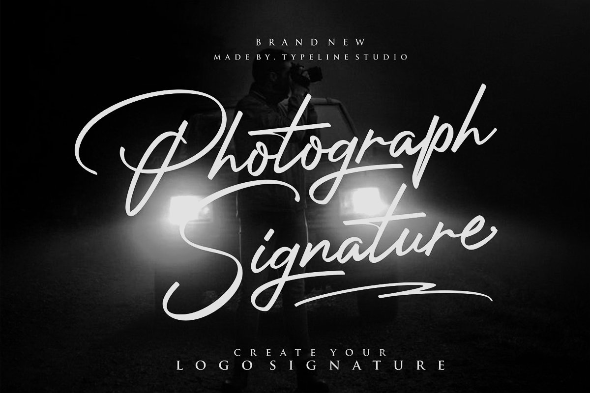 Photograph Signature Logo fonts example image 1