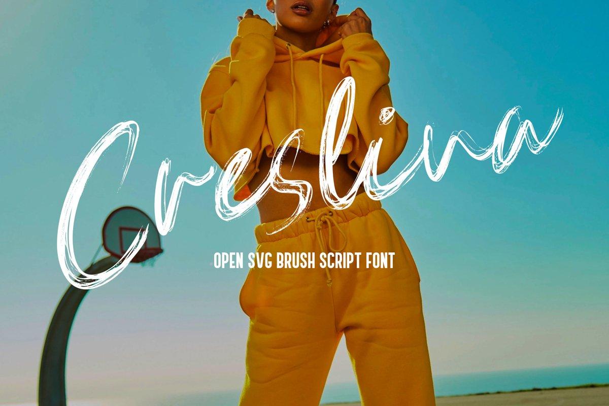 Creslina - SVG Brush Script Font example image 1
