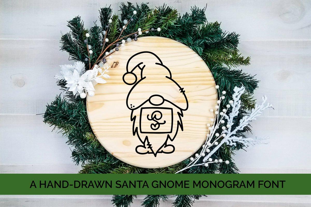 Santa Gnome Monogram - A Hand-Drawn Monogram Font example image 1