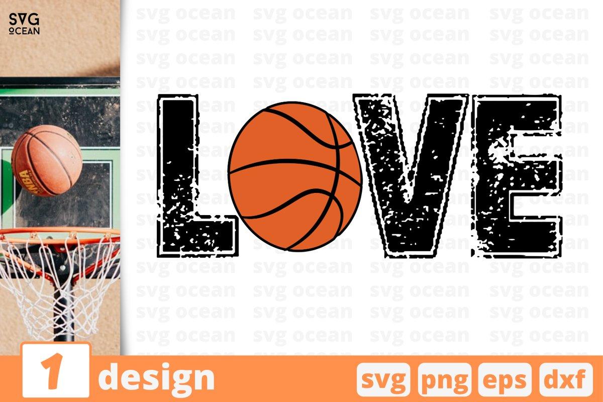 BASKETBALL LOVE SVG CUT FILE | Basketball cricut example image 1