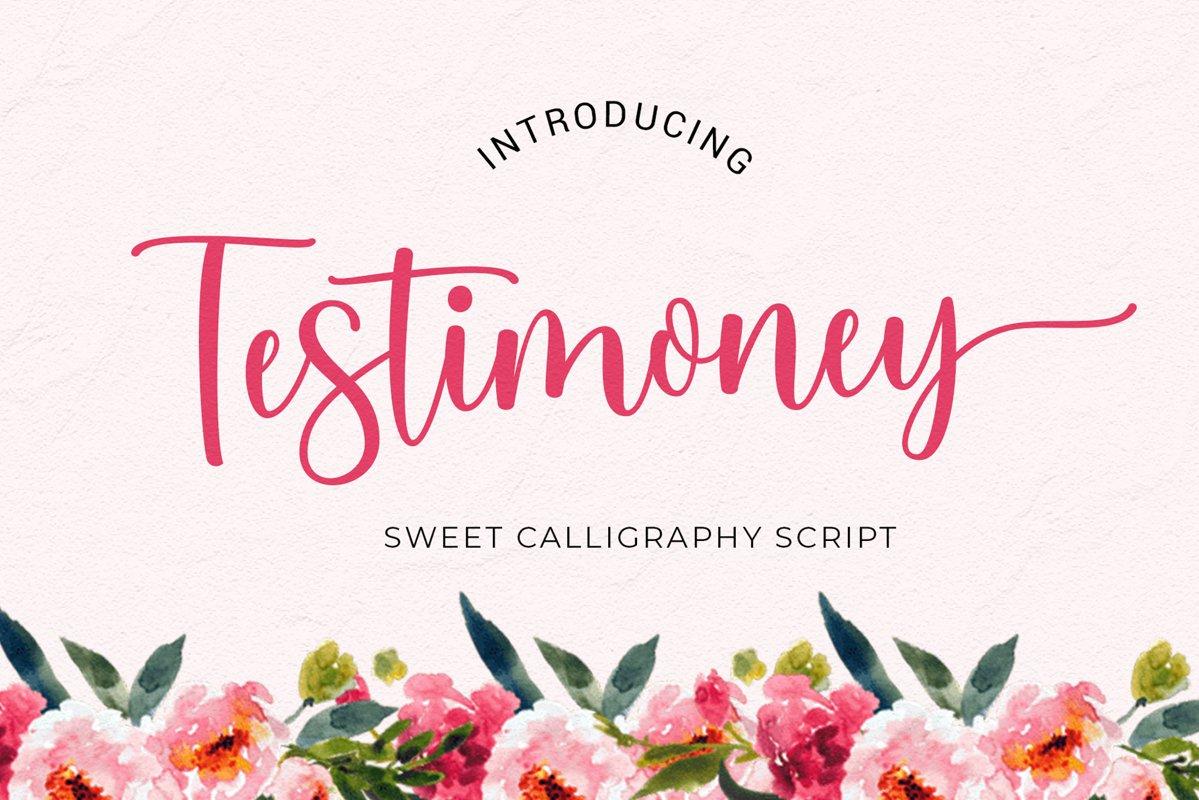 Testimoney modern script example image 1