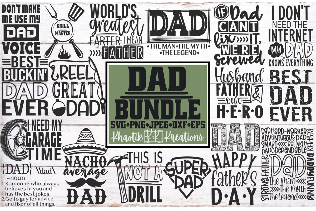 Dad Svg Bundle, Dad Svg, Fathers Day Svg, Funny Dad Svg example image 1