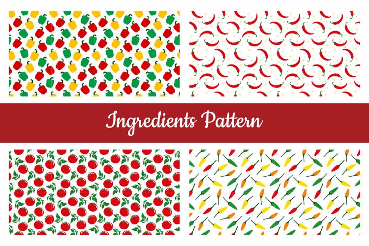 Ingredients Seamless Pattern example image 1
