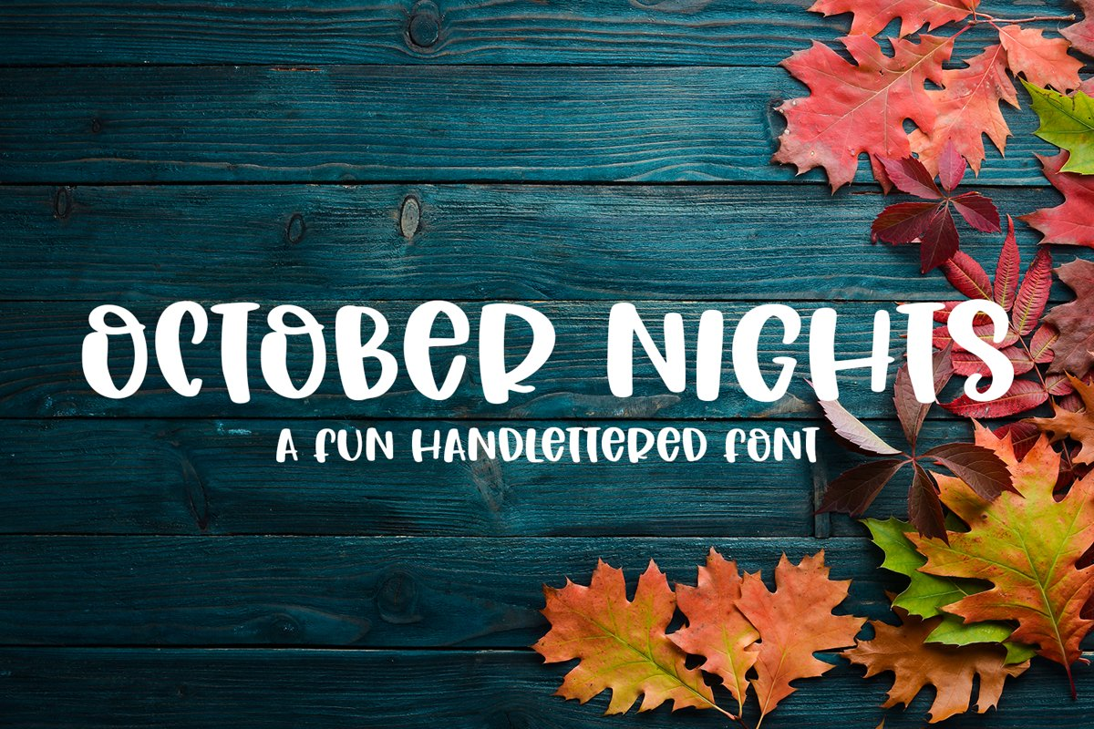 October Nights - A Cute Hand-Lettered Font example image 1