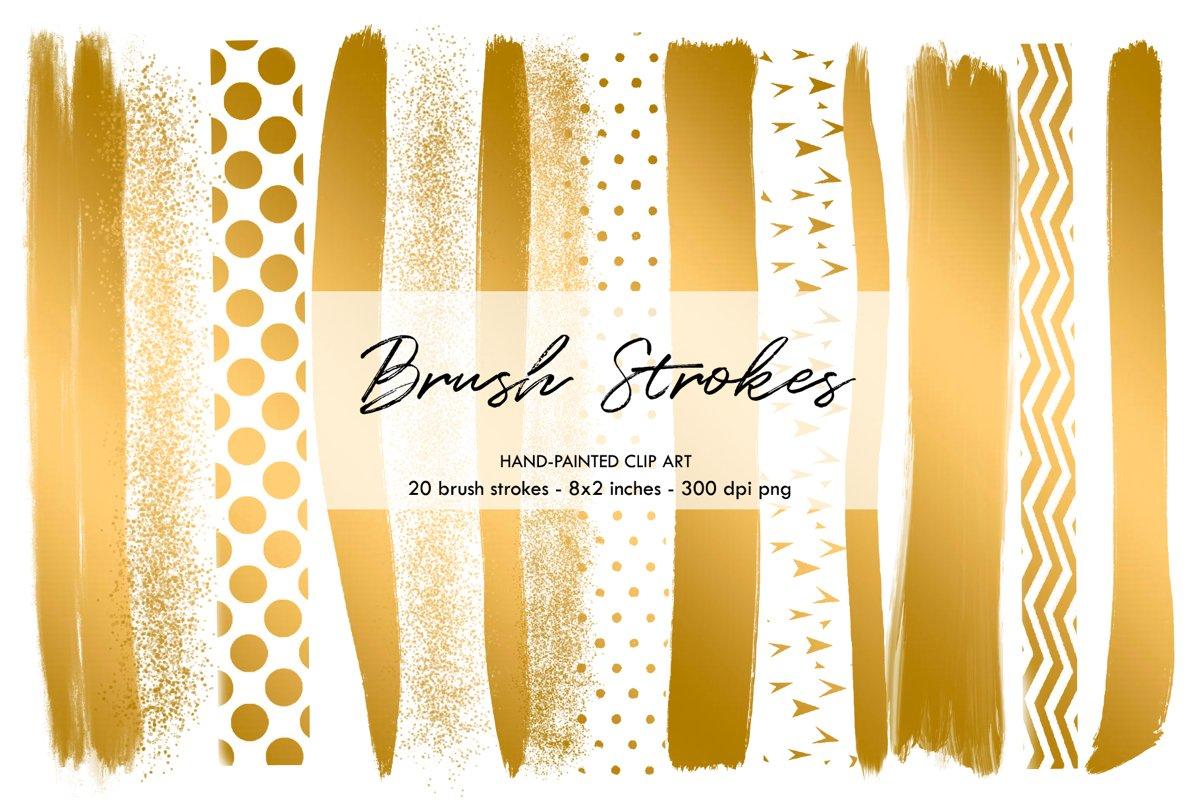 Gold Brush Strokes, Brush Strokes example image 1