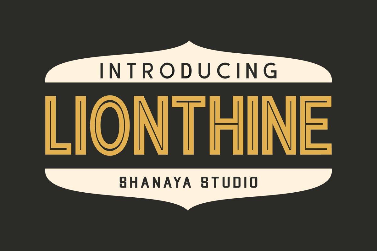 Lionthine l Elegant Typeface example image 1
