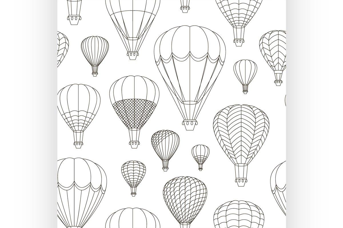 Air Balloons set pattern example image 1