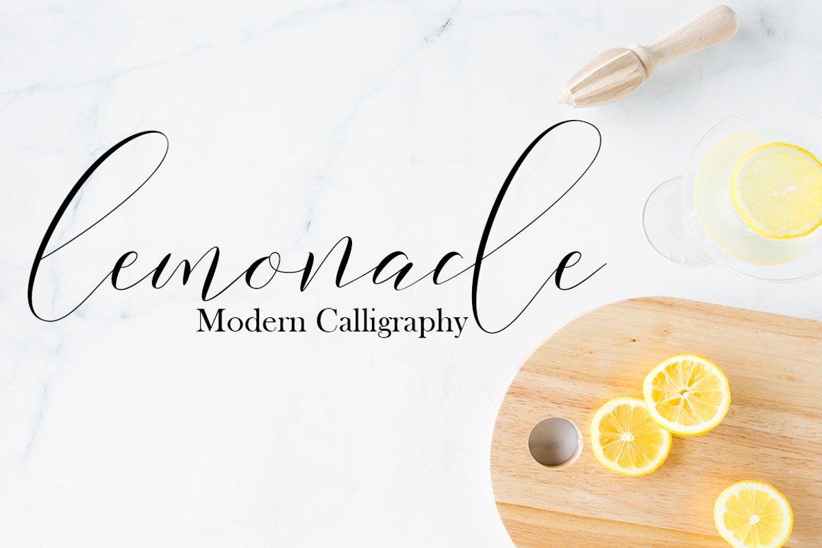 Lemonade Modern Calligraphy example image 1