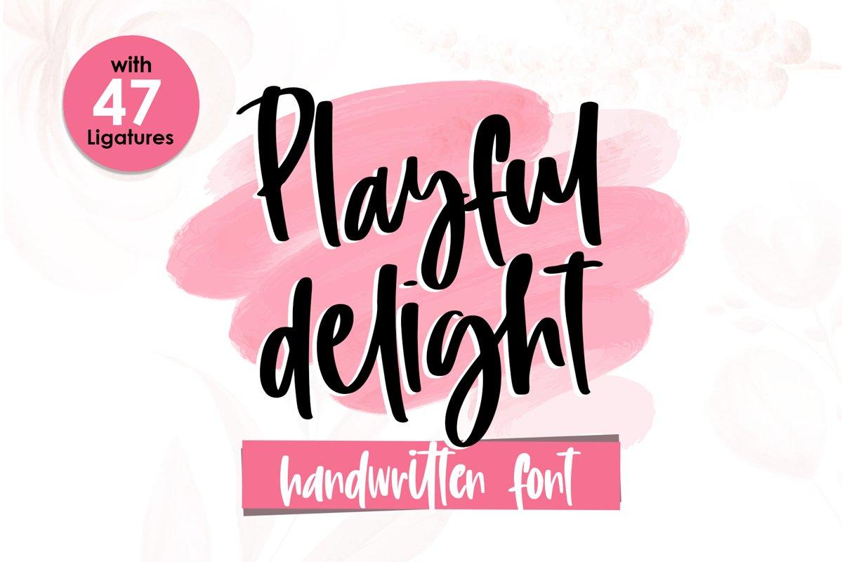 Playful Delight - Handwritten Font example image 1