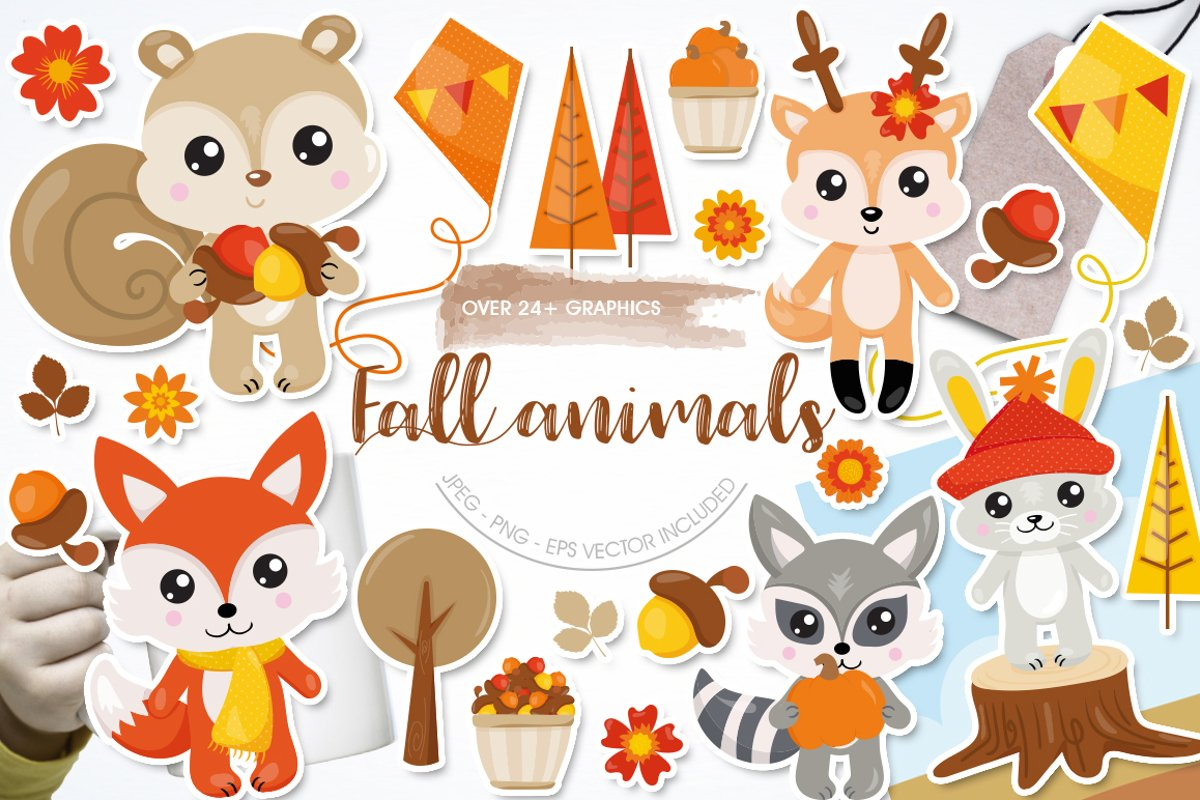Fall Animals Graphics and illustrations, vecto example image 1