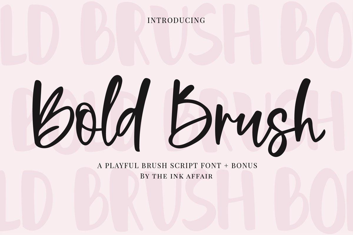 Bold Brush Font  Bonus Font example image 1