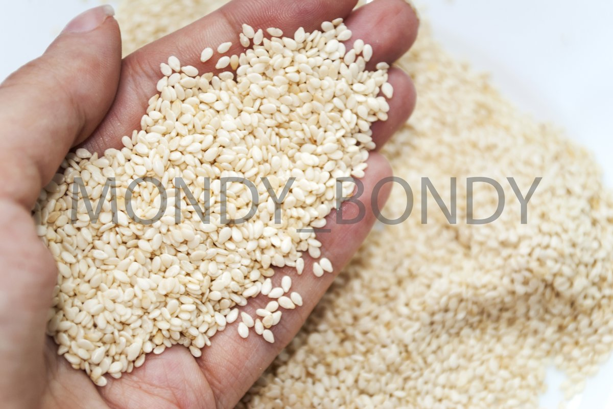 Sesame seeds. Useful ingredient. Proper nutrition example image 1