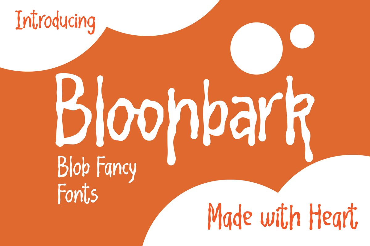Bloonbark - Blob Fancy Font example image 1