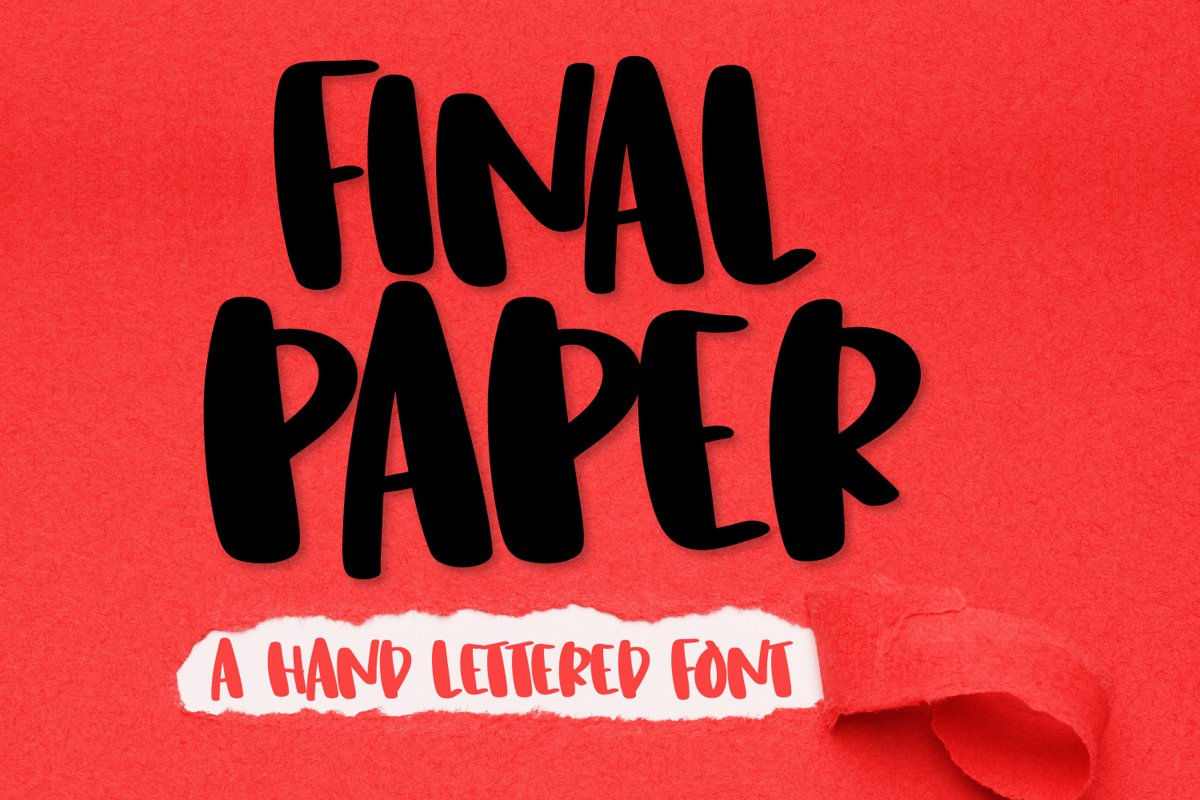Final Paper - A Clean Hand Lettered Type example image 1