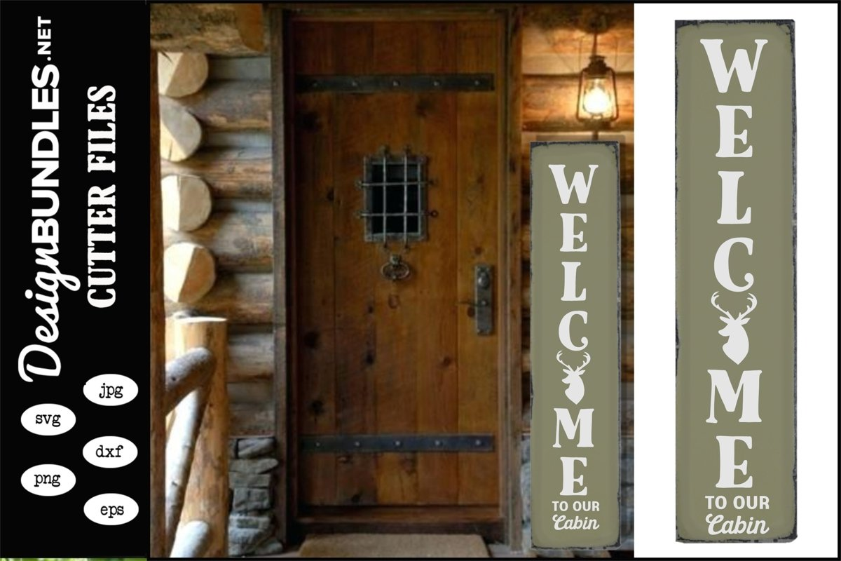 Welcome To Our Cabin Vertical SVG example image 1