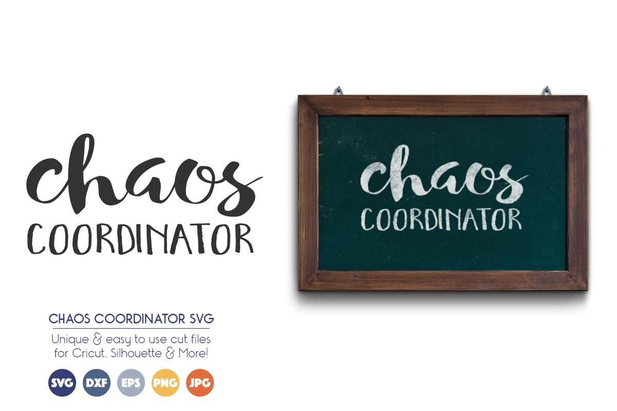 Chaos Coordinator - SVG Cut Files example image 1