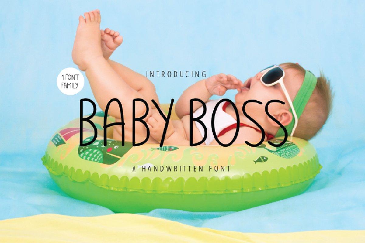BABY BOSS - A handwritten Font example image 1