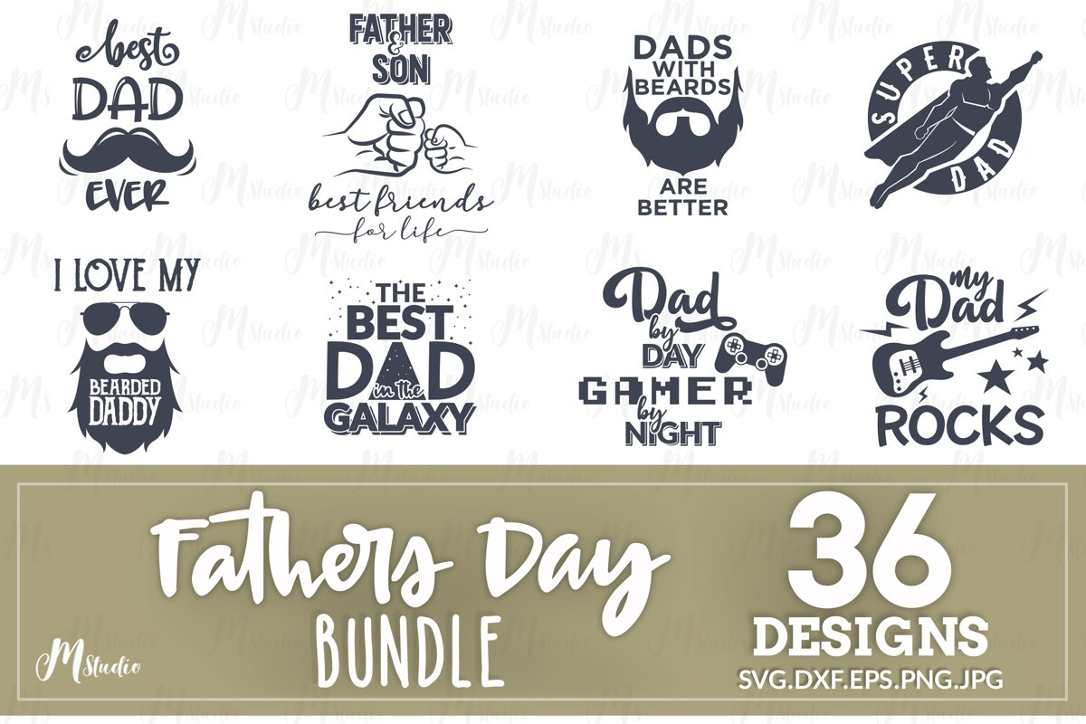 Father's Day SVG Bundle example image 1