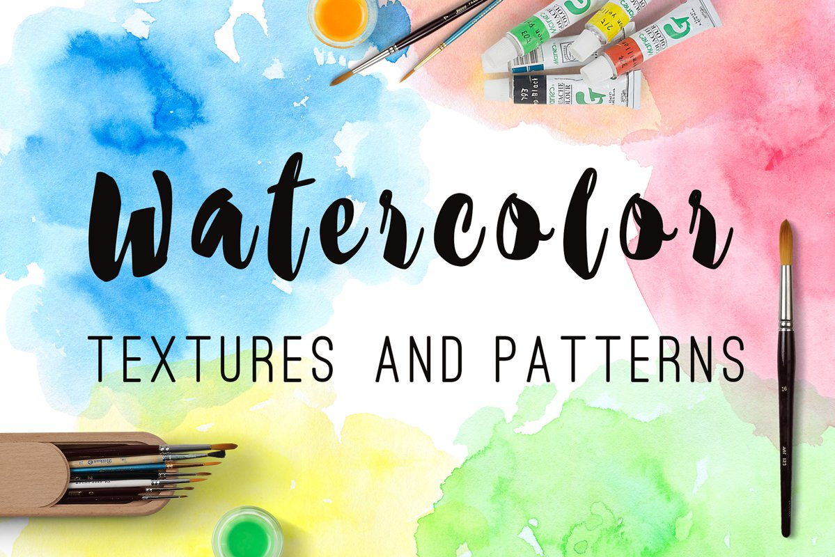 Watercolor Blots and Patterns example image 1