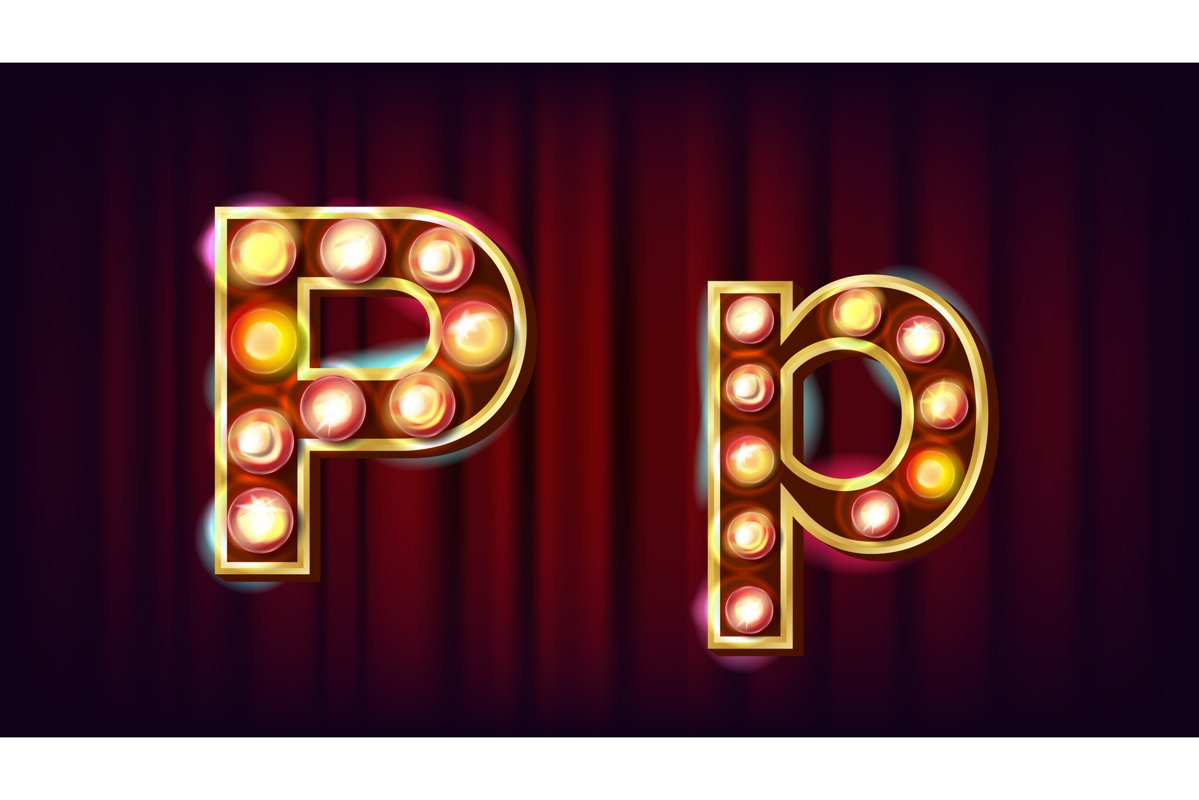 P Letter Vector. Capital example image 1