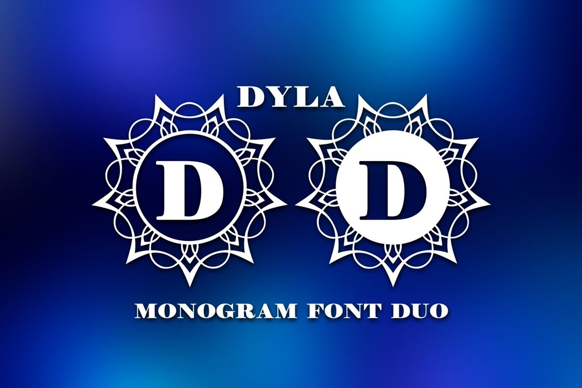 Dyla Monogram Font Duo example image 1