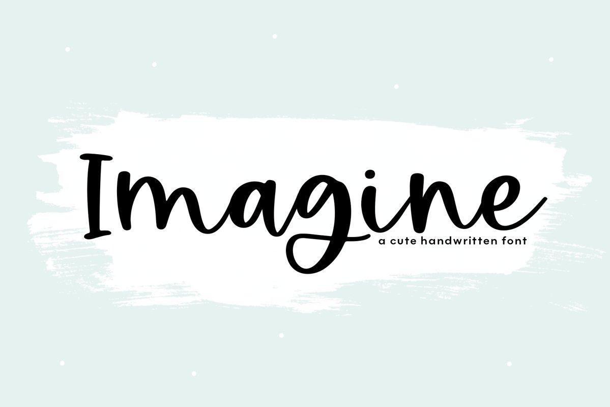 Imagine - Handwritten Script Font example image 1