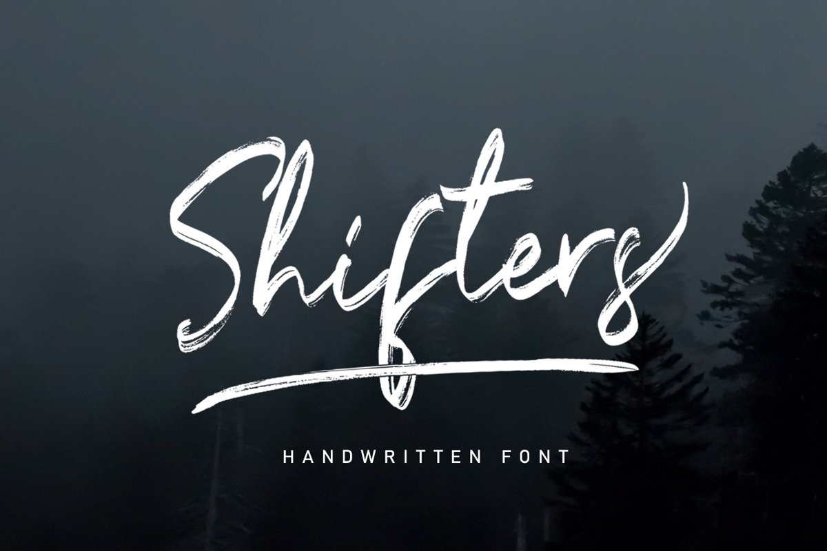 Shifters Handwritten Typeface Brush example image 1