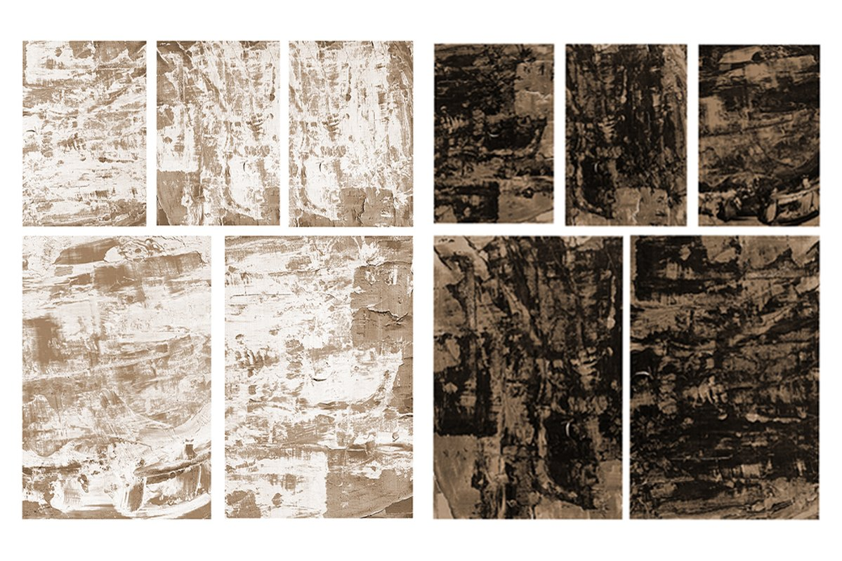 Set of 10 images. Abstract art background. Acrylic painting example image 1