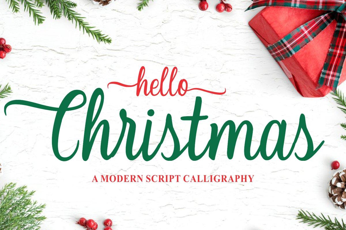 Christmas - Modern Calligraphy example image 1