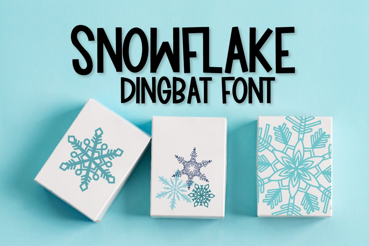 Flakes - A Dingbat Snowflake Font example image 1